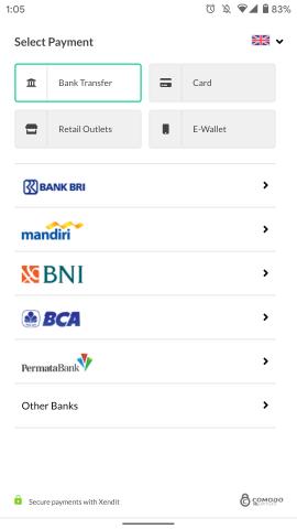 Xendit accept payments