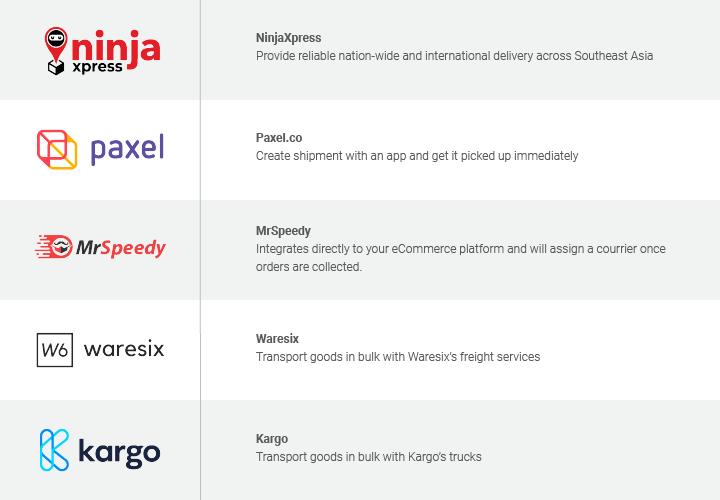 Delivery provider comparison by Xendit